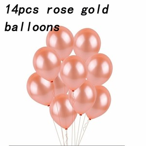 Image 4 - 14 Piece Rose Gold latex Balloons Wedding Decoration Birthday Party decorations Adult 18 Inch Heart Shape Gift helium balloon
