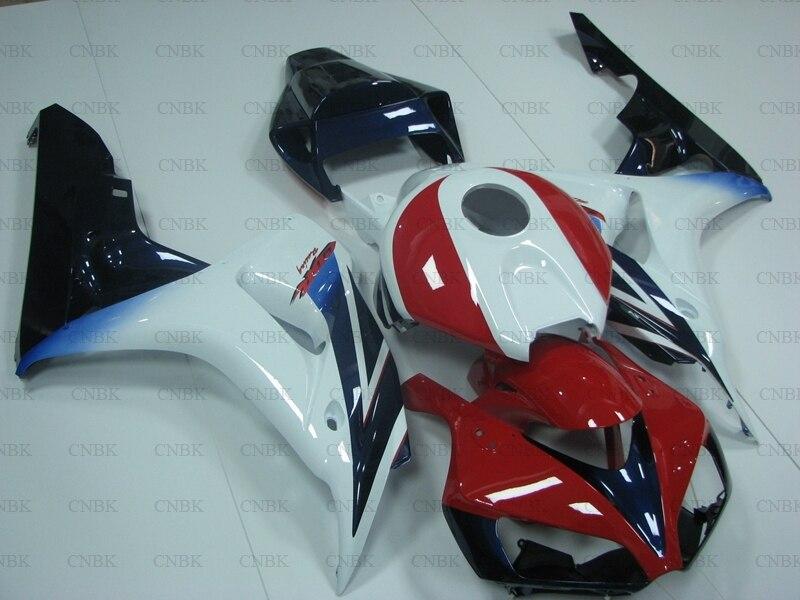 for CBR1000RR 2006 2007 Abs Fairing for Honda Cbr1000 RR 07 White Red Black Fairing Kits