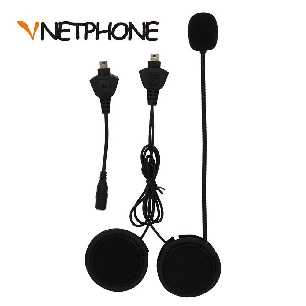 2019 Capacetes Ktm Helmet Headset Speaker Mini USB To 3.5mm Jack For Audio Adapter For Vnetphone V5 Motorcycle Bt Intercom