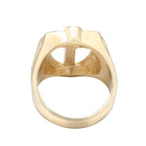 Image 4 - Fashion Crystal Gold Tone Knights Cross Finger Ring For Women Men Prayer Christian Jesus Band Biker Rock Hip hop Wedding Jewelry