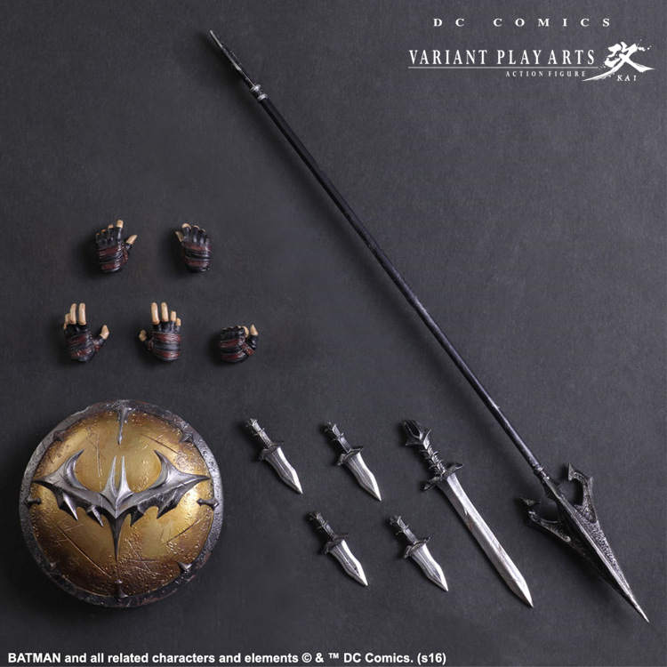 Play Arts Kai Batman 1/6 scale painted figure Variant variable Ver. Timeless Spartan PVC Action Figures Collectible Model Toys-1