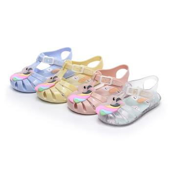 Kids Sandals Toddler Melissa Unicorn New Summer Mini Shoes Girls Dargon Jelly Casual Sandal H0364