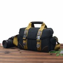 Camera Bag Case Canvas DSLR SLR Messenger Schoudertas Foto Lens Shockproof Waterdicht voor Canon EOS Nikon Sony a6000 Panasonic