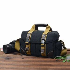 Image 1 - Camera Bag Case Canvas DSLR SLR Messenger Shoulder Bag Photo Lens Shockproof Waterproof for Canon EOS Nikon Sony a6000 Panasonic