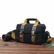 카메라 가방 케이스 캔버스 dslr slr 메신저 숄더 백 사진 렌즈 shockproof 방수 캐논 eos 니콘 소니 a6000 파나소닉