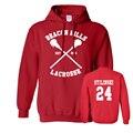 BEACON HILLS LACROSSE Maroon Hoodie Wolf Stiles Stilinski Teen 24 Tracksuits Pullovers Cheap Crewnecks Sweatshirts Moleton