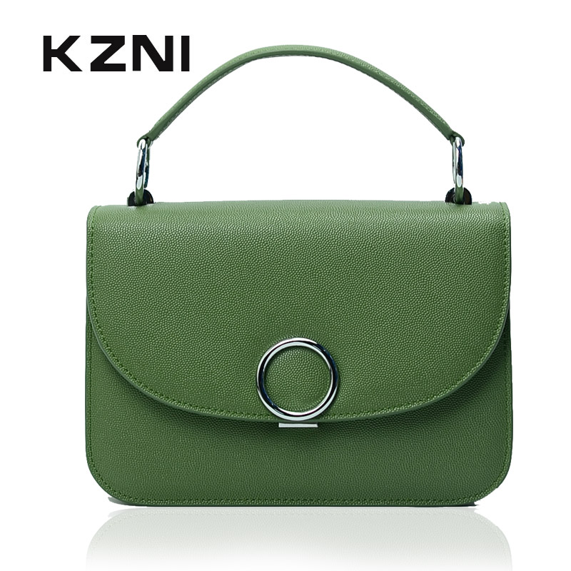 KZNI Real Leather Tote Bag Women Handbag Summer Genuine Leather Cross Shoulder Bags Female Purses and Handbags Bolsos Mujer 9019 new fashion women handbag women leather shoulder bag patchwork handbags brown plaid messenger bag tote bags bolsos mujer free