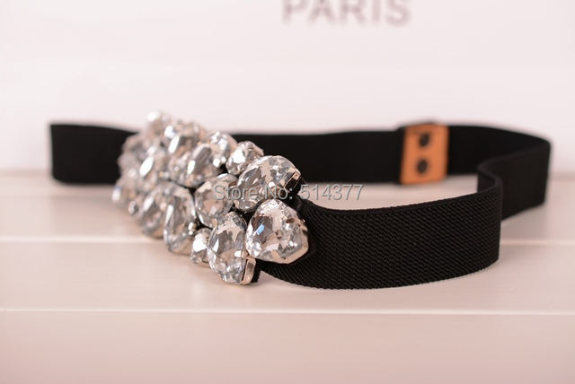 Elegant Belts with Rhinestone Decoration