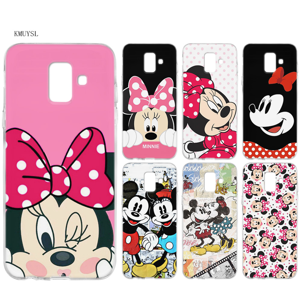 KMUYSL Minnie Mouse Girls Cute TPU Silicon Clear Soft Case Cover Shell for Samsung Galaxy A6 A8 Plus J6 J4 J8 2018