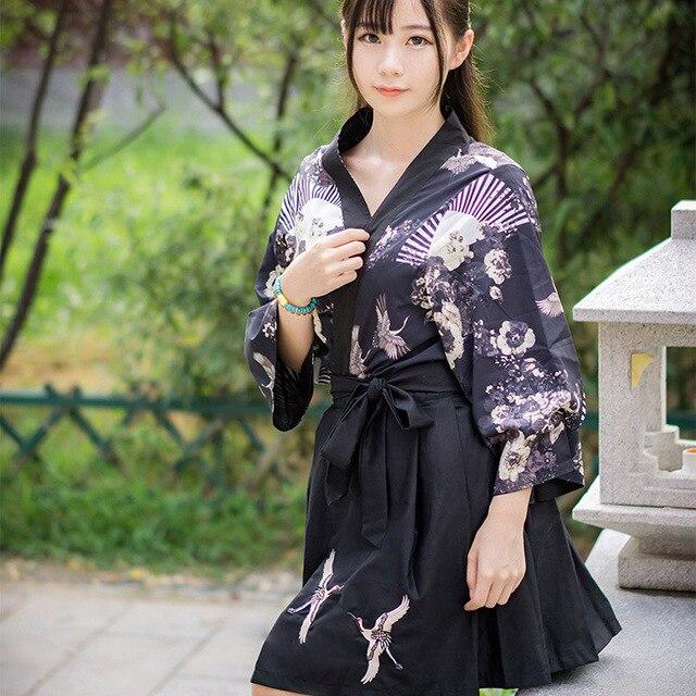 1e0bad3df € 16.39 5% de DESCUENTO Yunhe estilo japonés Cosplay Cardigan yukata blanco  nubes Ling se kimono de verano largo corto en de en AliExpress.com   ...