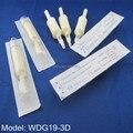30pcs 19mm White Diamond Tube DT3 VT3 Disposable Tattoo Grip Tube Supply WDG19-3D#