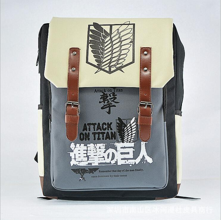 NEW High Quality Shingeki no Kyojin Attack on Titan Backpack Schoolbag Shoulder Bag free shipping недорго, оригинальная цена
