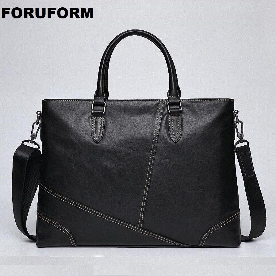 Leather Briefcases Men Laptop Male Messenger Bag Men's Genuine Leather Shoulder Bags Briefcase For Documents Handbags LI-2457