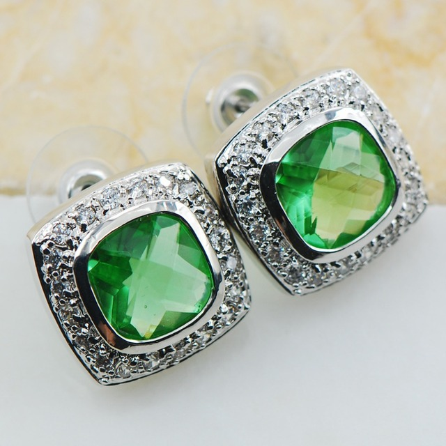 Peridot 925 Sterling Silver Earrings TE608