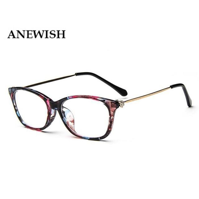 34cb2f00252e4 Novo Grau de Moda Feminina Do Vintage Óculos De Armação De Diamante Olho de  Gato Retro