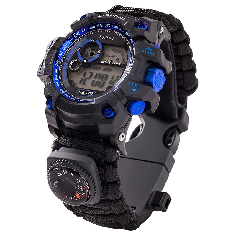 Survive Outdoor Sport Watches Men Emergency with Night Vision Men Digital Watches Compass Whistles Sports Wrist Watch Mens 2019 (3)