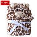 С капюшоном животных детское одеяло новорожденных/ребенок полотенце/ребенок халат плащ прекрасный мягкий спальный trq0005