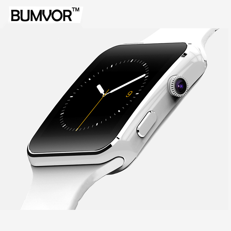 BUMVOR Bluetooth Smart Watch X6 Sport Passometer Smartwatch with Camera Support SIM Card Whatsapp Facebook for Android Phone men women bluetooth smart watch smartwatch dz09 fitness tracker passometer sim card camera for iphone xiaomi huawei pk gt08 a1