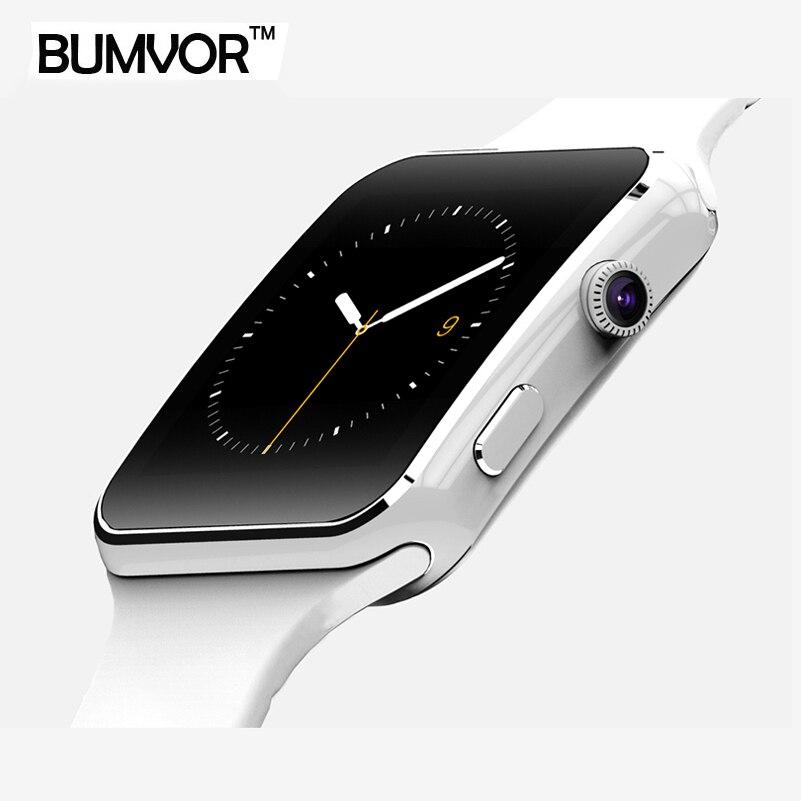 BINZI Bluetooth Smart Uhr X6 Sport Passometer Smartwatch mit Kamera-unterstützung Sim-karte Whatsapp Facebook für Android-Handy