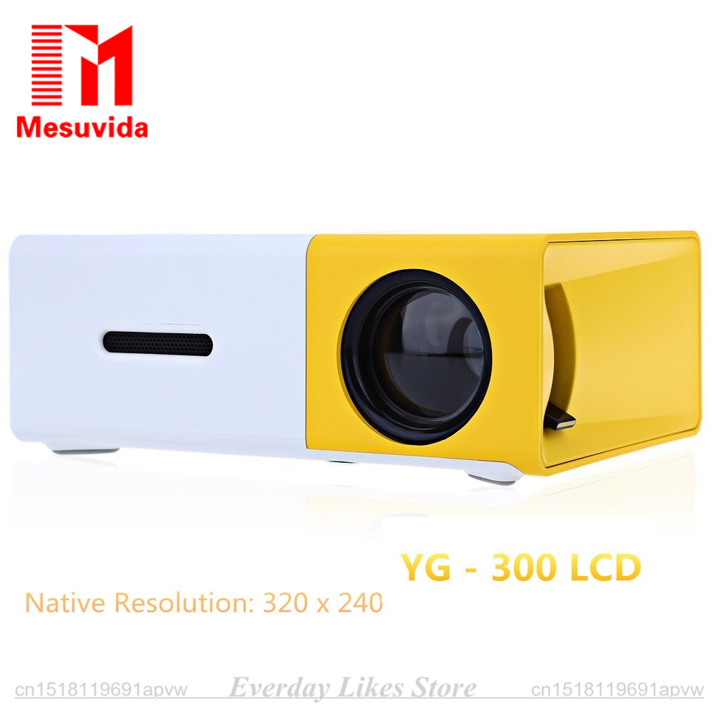 ФОТО Mini Probable Projector Concise Efficient Compact YG300 YG-300 LCD Projector 400-600 LM 320x240 Pixels Home Smart Media Player