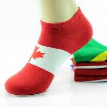 2016 Fashion Hosiery Cotton Flag Pattern Socks Short Calcetines Meias Kiss Sokken Ankle Meias Sox For Men And Women