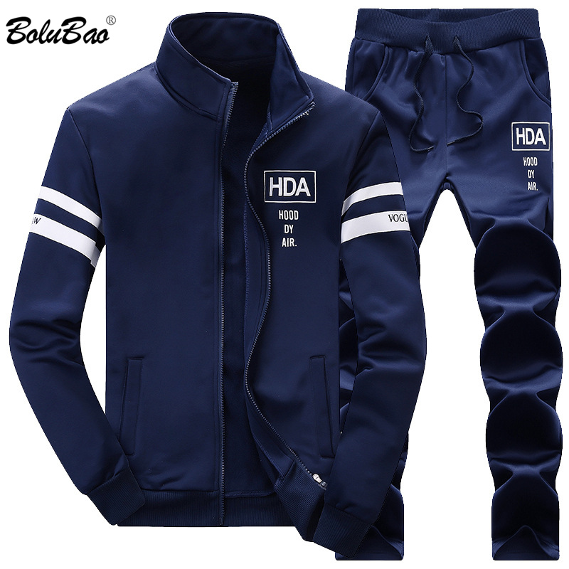 BOLUBAO Men Set Top+Pants 2-piece Set 2020 Spring Summer Male Suit Sweatshirt Sportswear Tracksuit Male Sporting Suits