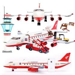 GUDI 856 + Uds bloque ciudad avión de pasajeros grande bloque de construcción de bloques de construcción bloques educativos juguetes para niños regalo