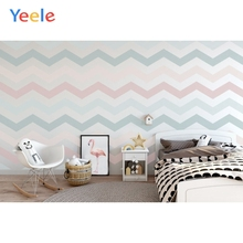 Yeele Photographic Backdrops Baby Bedroom Wavy Stripes Wall Furniture Decoration Photography Backgrounds For the Photo Studio