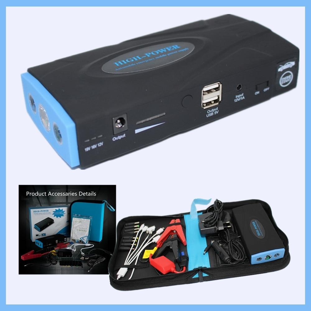 Car jump starter Mini Portable Car Jump Starter Emergency Start 12V  Engine Multi-Function 2 USB Power Bank ChargerDiesel