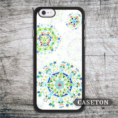 Water Green Floral Drops Case For iPhone 7 6 6s Plus 5 5s SE 5c and For iPod 5 High Quality Classic Lovely Flower Cover