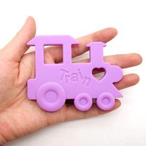 Image 3 - Chenkai mordedor de tren de silicona DIY, chupete de bebé de dibujos animados, joyería de dentición simulada, juguete para regalo