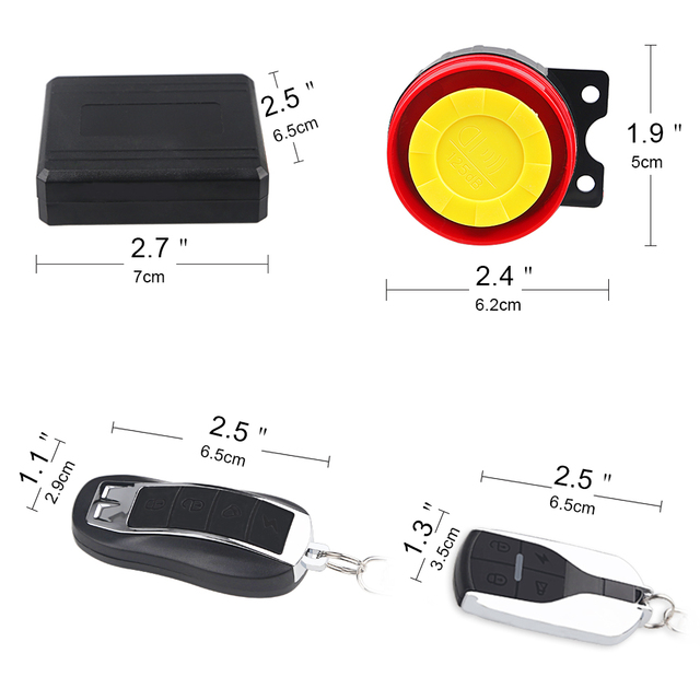 1Set 12V Motorcycle Scooter Anti-theft Security Alarm System Remote Control Start Bike ATV  Motorbike Protection for Suzuki ect 4