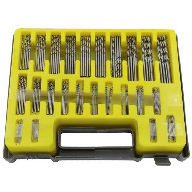Mini Tool kit with case for Drills Wood & Steel 150pcs HSS Material Power Rotary Micro Twist Precision Drill Bit Set 0.4-3.2mm