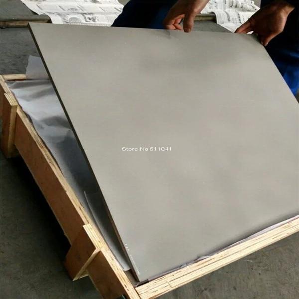 Gr5 feuille de plaque en alliage de titane 10mm d'épaisseur * 800mm de largeur * 800mm L, 1 pc Gr5 6al4v tian feuille, livraison gratuite