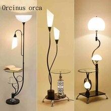 LED floor lamp table room simple modern bedroom study creative vertical