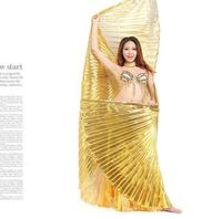 Super Big Size Angle Wings Egypt Belly Dancing Costume Golden Isis Wings Dance Wear With Thick