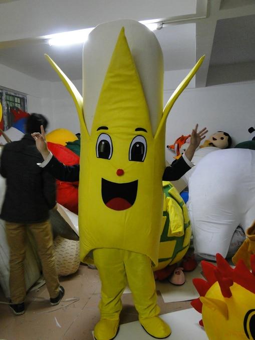 Venda direta da fábrica Venda Quente Personalizado especial de banana traje da mascote Tamanho Adulto
