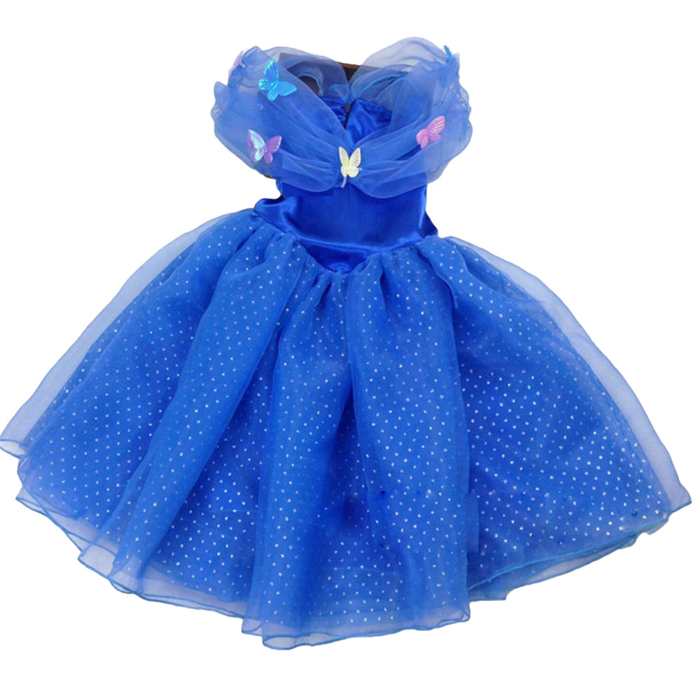 New Style Child's 3 to 10 baby girls dress Cosplay Costume Cinderella Wedding Dresses Baby Girls Princess Party dress Vestidos the flower child dress baby girls cinderella dress big girls clothing princess party dress flowers dress girls costume free ship