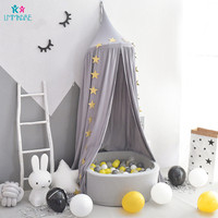 Baby Crib Netting Cotton Multicolor Children's Tent Game Roof Dome Kids Room Decoration Bed Curtain Tent Baby Mosquito Nets