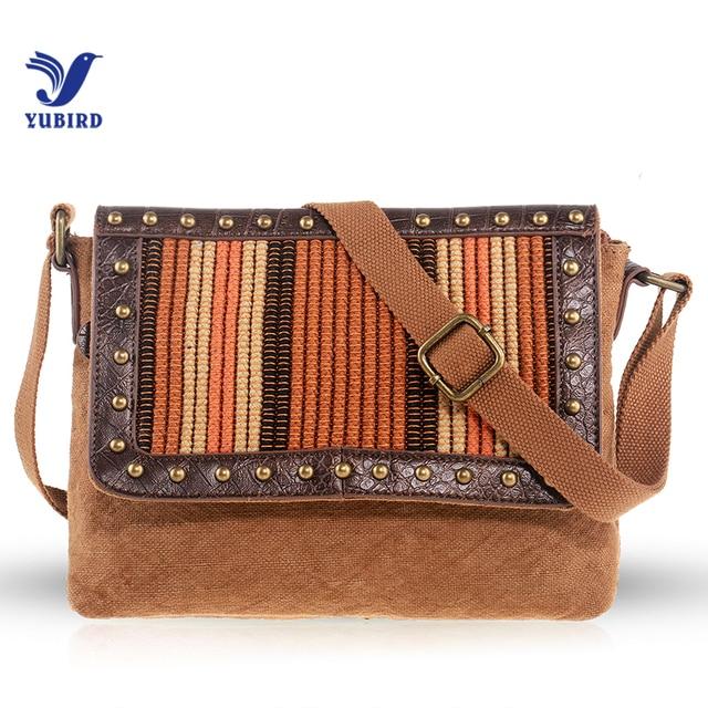 2318d97e3a YUBIRD Canvas Satchel Bag Rivet Women Messenger Bag Shoulder Crossbody Bag  Cloth Vintage Casual bolsa lona bolsos mujer torba