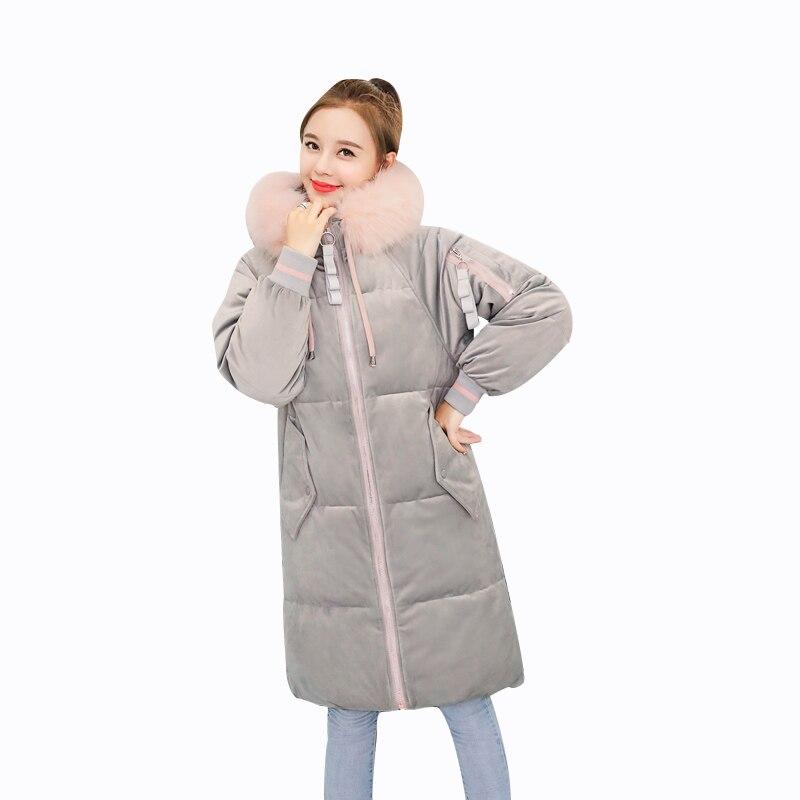 f7707f88170a Chaud Mode pink Manteaux Parka gray Veste Beige Femme Fourrure D hiver  Femmes De Vestes rembourré ...