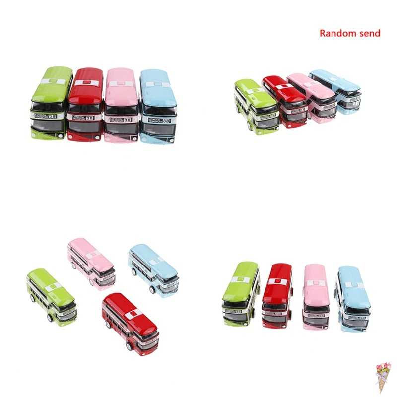 Double-decker Bus London Bus design Car Toys Sightseeing Bus Vehicles Urban Transport Vehicles Commuter vehicles 9.5*3*4CM