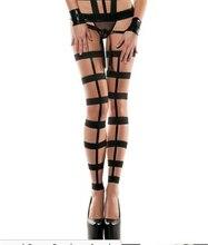 Women's Sexy Stockings Top Thigh-Highs Lingerie Hot Garters Belt Set Underwear Open Crotch Panties Erotic Bandage sw053