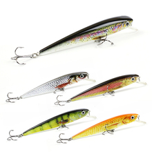 5 Color 4.4″/11.3g Hot Sale Minnow Fishing Lure Top Quality Fish Bait 3D Eyes Crankbait Vivid Motion Fishing Tackle Pesca AH03