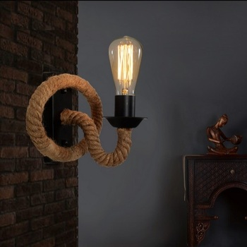 Retro Loft Style Rope Edison Wall Sconce Vintage Wall Lamp Antique Industrial Wall Lights For Home Indoor Lighting Lamparas
