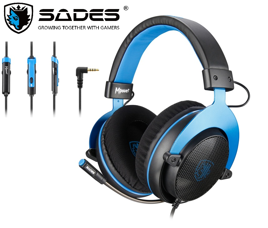 SADES Gaming Heaset Mpower 3.5mm For PC/Laptop/PS4/Xbox One(2015 version)/Mobile/VR/Nintendo Switch