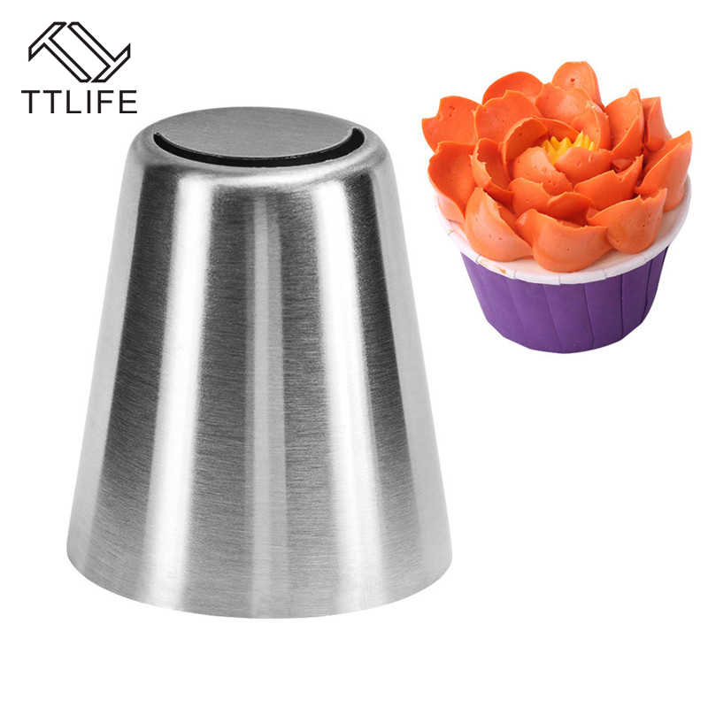 TTLIFE 1PC รัสเซียหัวฉีดสแตนเลสท่อเคล็ดลับ DIY Pastry Nozzle Fondant เค้กตกแต่งเครื่องมือเค้กแม่พิมพ์ Pastry