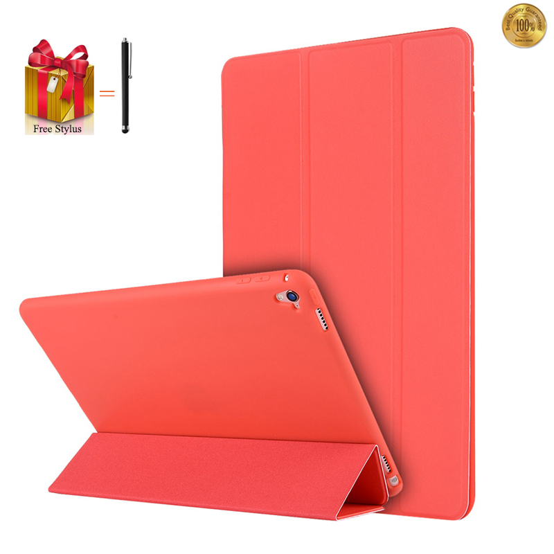 Case Tablet For iPad Pro 2016 9.7 Luxury Case Flip 3 Fold Silicon Flip Leather Cover For iPad Pro 2016 Tablet Capa Fundas+Pen leather case flip cover for letv leeco le 2 le 2 pro black
