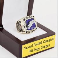 1994 샌디에고 충전기 NFC 축구 우승 반지 10-13 사이즈 벚꽃 나무