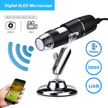 USB Microscope 1000X Led Magnifier Magnification Digital Microscope Stand Table Magnifier For IOS Android Optical Instrument недорго, оригинальная цена